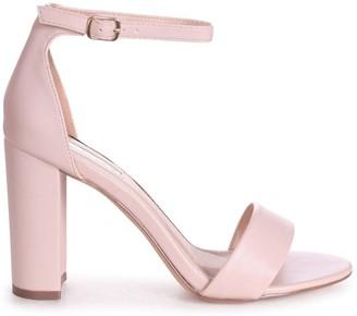 Linzi SELENA - Nude Nappa Barely There Block High Heel