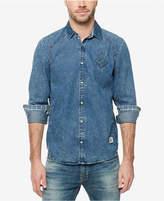 Buffalo David Bitton Men's Contrast-Trim Denim Shirt