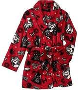 AME Sleepwear STAR WARS Boy's Size Fleece Bath Robe, Galactic Empire Bathrobe