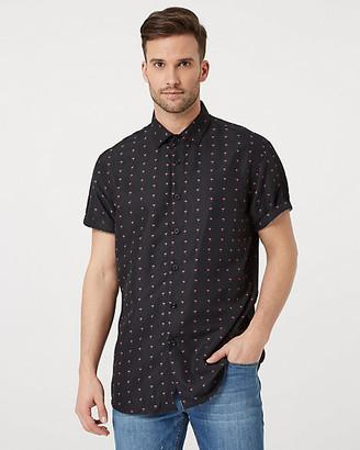 Le Château Flamingo Print Tailored Fit Shirt