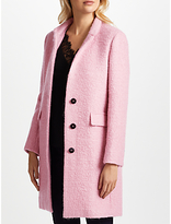 Marella Liguria Boucle Wool Blend Coat, Pink