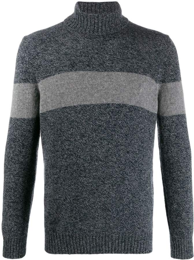 Fay stripe detail sweater