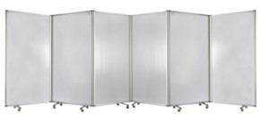 Screen Gems Commercial Residential Double-sided Wheeled 6 Panel Screen