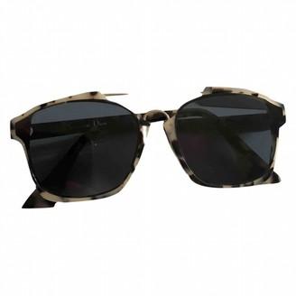 Christian Dior Abstract Silver Plastic Sunglasses