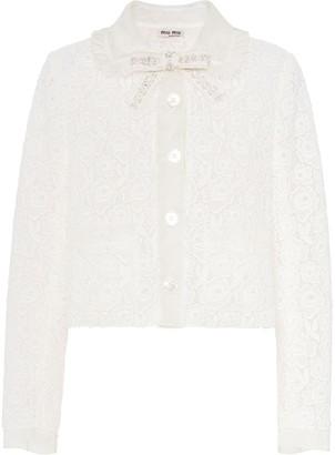 Miu Miu Floral-Lace Jacket