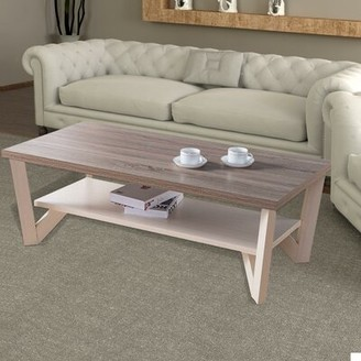 August Grove Poyen Stylish Center Display Coffee Table with Storage August Grove