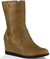 UGG Joely Waterproof Leather Zipper Wedge Boots