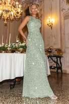 Quiz Sage Sequin Maxi Dress