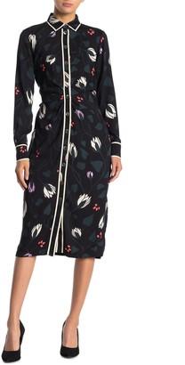 Kate Spade Deco Bloom Crepe Shirt Dress