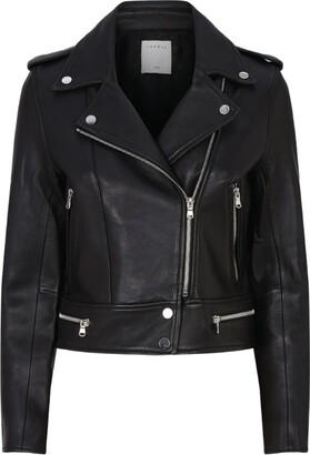 Sandro Paris Leather Biker Jacket