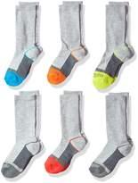 Fruit of the Loom Boys Core 6 Pack Crew Socks