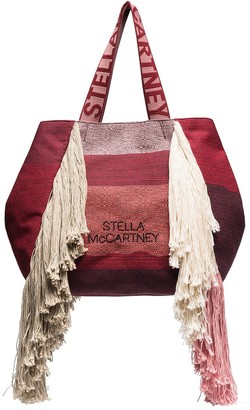 Stella McCartney Fringed Woven Tote Bag