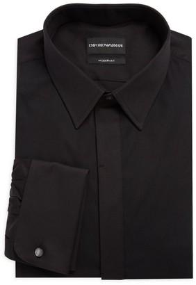 Emporio Armani Modern-Fit Tuxedo Shirt