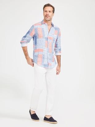 J.Mclaughlin Gramercy Classic Fit Linen Shirt in Patchwork