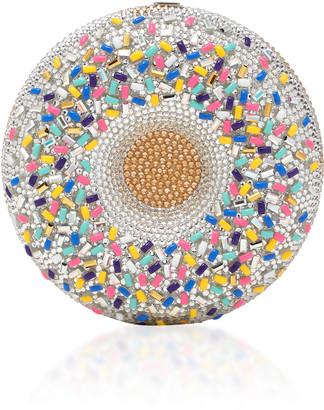 Judith Leiber Couture Vanilla Sprinkles Donut Crystal-Embellished Clut