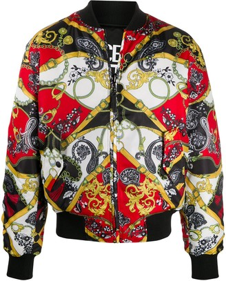 Versace Jeans Couture Baroque Print Bomber Jacket