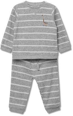 M&Co Animal striped sweatshirt and joggers set (Newborn-18mths)