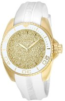 Invicta Women's 'Angel' Quartz Stainless Steel and Silicone Casual Watch, Color:White (Model: 22703)