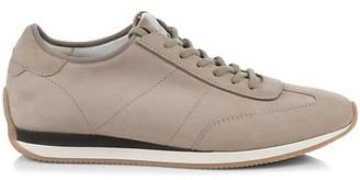 Santoni Stretch Suede Low-Top Sneakers