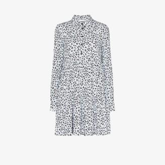 Ganni Floral Print Shirt Dress