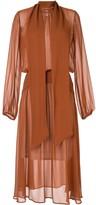 No.21 gathered drape dress