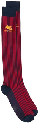 Etro Colour Block Striped Socks