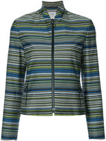 Akris Punto striped fitted jacket - women - Cotton/Polyester - 4