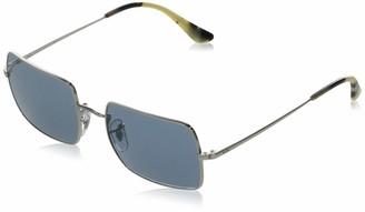 Ray-Ban Women's RB1969 Rectangle Metal Sunglasses Non Polarized Rectangular