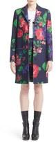 MSGM Floral Print Wool Blend Coat