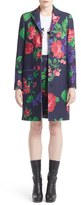 MSGM Women's Floral Print Wool Blend Coat