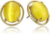 Kate Spade Open Rim Yellow Stud Earrings
