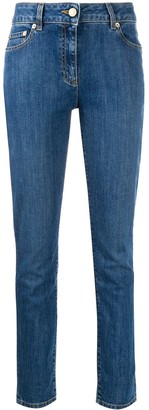 Moschino teddy bear embroidered skinny jeans
