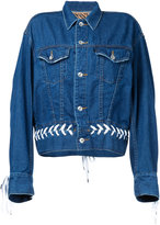 G.V.G.V. denim shoe lace up jacket