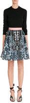 Peter Pilotto Printed Cloqué Skirt