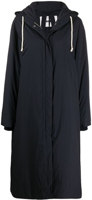 Jil Sander Slouchy Hooded Parka Coat