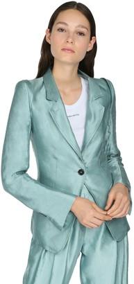 Ann Demeulemeester Wrinkled Linen Blazer