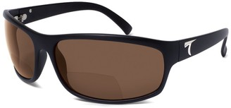 Typhoon Men's Harbor II Reader Lens Power Polarized Square Sunglasses