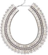 Love Rocks Crystal & Shell Pearl Cleopatra Statement Necklace