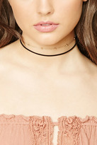 Forever 21 FOREVER 21+ Layered Faux Suede Chain Choker