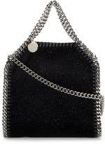 Stella McCartney Mini Black Glitter Falabella Shoulder Bag