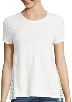 BELLE + SKY Short-Sleeve Eyelet Back Tee