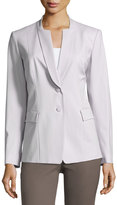 Lafayette 148 New York Devi Notched-Collar Two-Button Jacket, Sterling