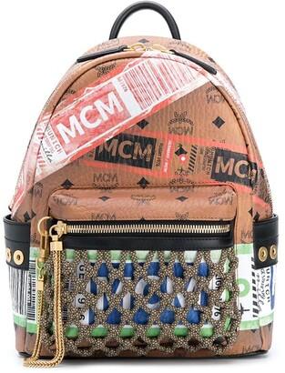 MCM Stark Flight Print Visetos backpack