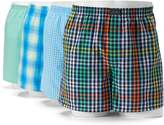 Jockey Men's 4-pack Active Blend Patterned Performance Woven Boxers