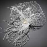 BST Wedding Headpieces BST Women's Tulle / Imitation Pearl Headpiece - Wedding / Special Occasion Birdcage Veils 1 Piece