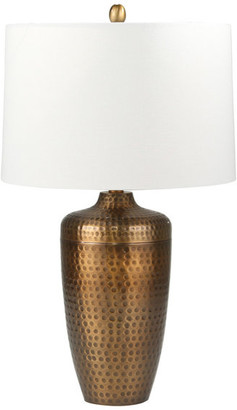 """Sagebrook Home Metal 28"""" Table Lamp With Hammered Finish 50192-01"""