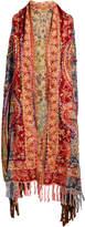 Raj Imports Women's Sweater Vests BRIGHT - Red & Yellow Paisley Open Cardigan - Women