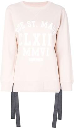 MM6 MAISON MARGIELA side tie sweatshirt