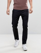 United Colors Of Benetton Slim Fit Cropped Chino In Indigo Twill