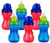 Nuby 6 Pack No-Spill Flip-It Cup 10-Ounce - Red/Blue